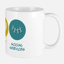Peace Love Social Services Mug