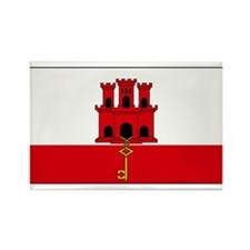 Gibraltar Blank Flag Rectangle Magnet