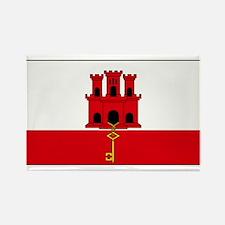 Gibraltar Blank Flag Rectangle Magnet