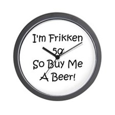 50 Buy Me A Beer! Wall Clock