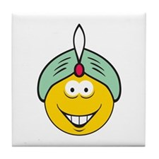 Genie/Sultan Smiley Face Tile Coaster