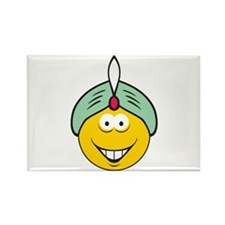 Genie/Sultan Smiley Face Rectangle Magnet