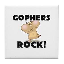Gophers Rock! Tile Coaster
