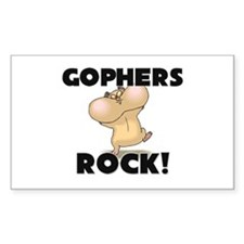 Gophers Rock! Rectangle Decal