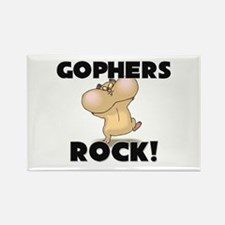 Gophers Rock! Rectangle Magnet