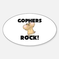 Gophers Rock! Oval Decal