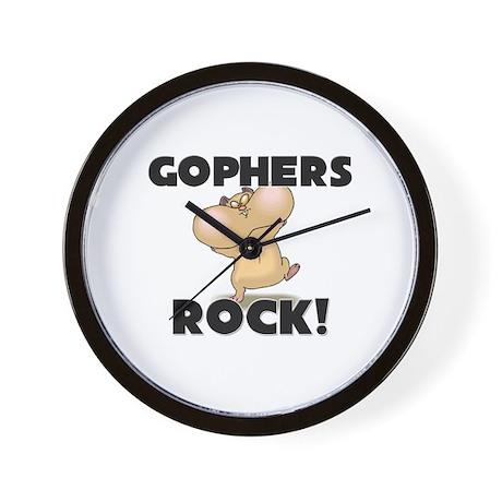 Gophers Rock! Wall Clock