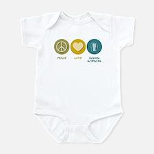 Peace Love Social Sciences Infant Bodysuit