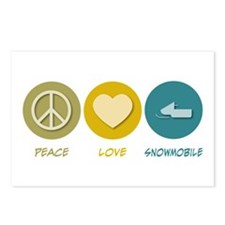 Peace Love Snowmobile Postcards (Package of 8)