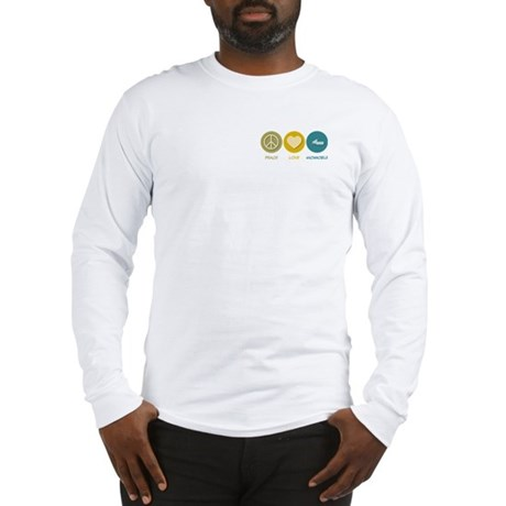 Peace Love Snowmobile Long Sleeve T-Shirt