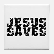 Jesus Saves bk Tile Coaster