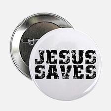 "Jesus Saves bk 2.25"" Button (10 pack)"