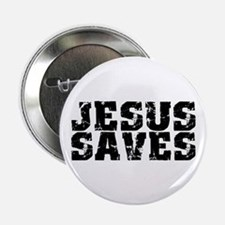 "Jesus Saves bk 2.25"" Button"