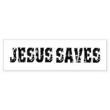 Jesus Saves bk Bumper Bumper Sticker