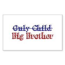 Only Child New Big Brother Rectangle Decal