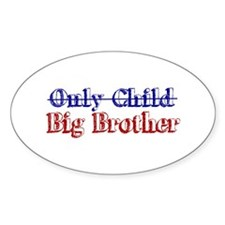 Only Child New Big Brother Oval Decal