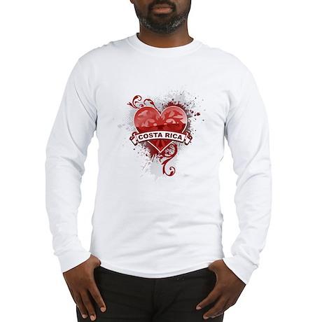 Heart Costa Rica Long Sleeve T-Shirt
