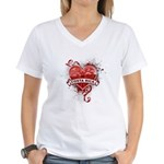 Heart Costa Rica Women's V-Neck T-Shirt