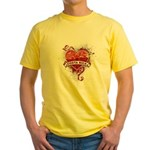 Heart Costa Rica Yellow T-Shirt