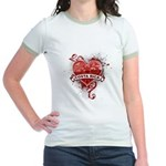 Heart Costa Rica Jr. Ringer T-Shirt