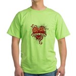 Heart Costa Rica Green T-Shirt