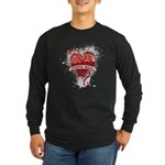 Heart Costa Rica Long Sleeve Dark T-Shirt