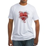Heart Costa Rica Fitted T-Shirt