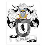 Cabrera Family Crest Small Poster
