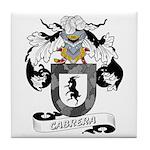 Cabrera Family Crest Tile Coaster