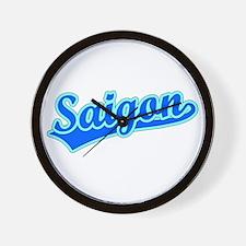 Retro Saigon (Blue) Wall Clock