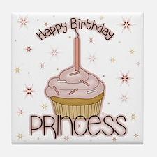 Happy Birthday Princess Tile Coaster