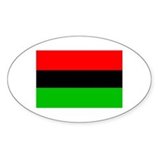 African-American Flag Oval Decal