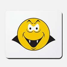 Dracula/Vampire Smiley Face Mousepad