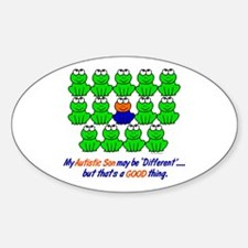 Different FROGS 1 (Son) Oval Decal