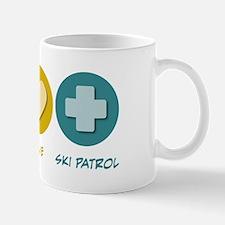 Peace Love Ski Patrol Mug