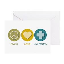 Peace Love Ski Patrol Greeting Card