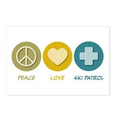 Peace Love Ski Patrol Postcards (Package of 8)
