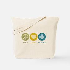 Peace Love Ski Patrol Tote Bag