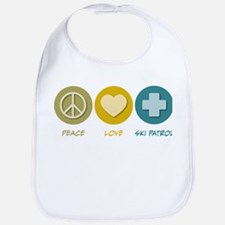 Peace Love Ski Patrol Bib