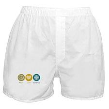 Peace Love Ski Patrol Boxer Shorts