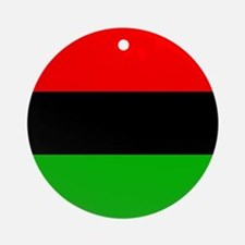 African American Flag Ornament (Round)