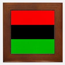 African American Flag Framed Tile