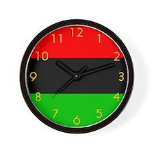 African American Flag Wall Clock