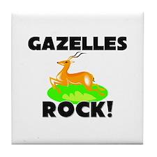 Gazelles Rock! Tile Coaster
