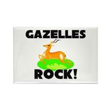 Gazelles Rock! Rectangle Magnet