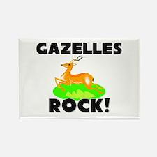 Gazelles Rock! Rectangle Magnet