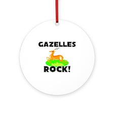 Gazelles Rock! Ornament (Round)