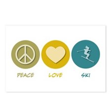 Peace Love Ski Postcards (Package of 8)