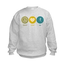 Peace Love Ski Sweatshirt