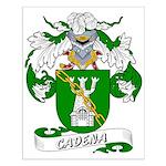 Cadena Family Crest Small Poster